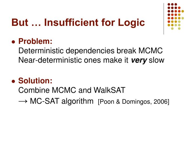 But … Insufficient for Logic