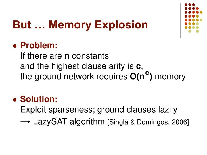 But … Memory Explosion