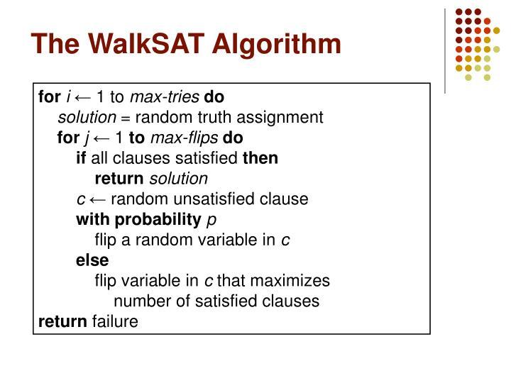 The WalkSAT Algorithm