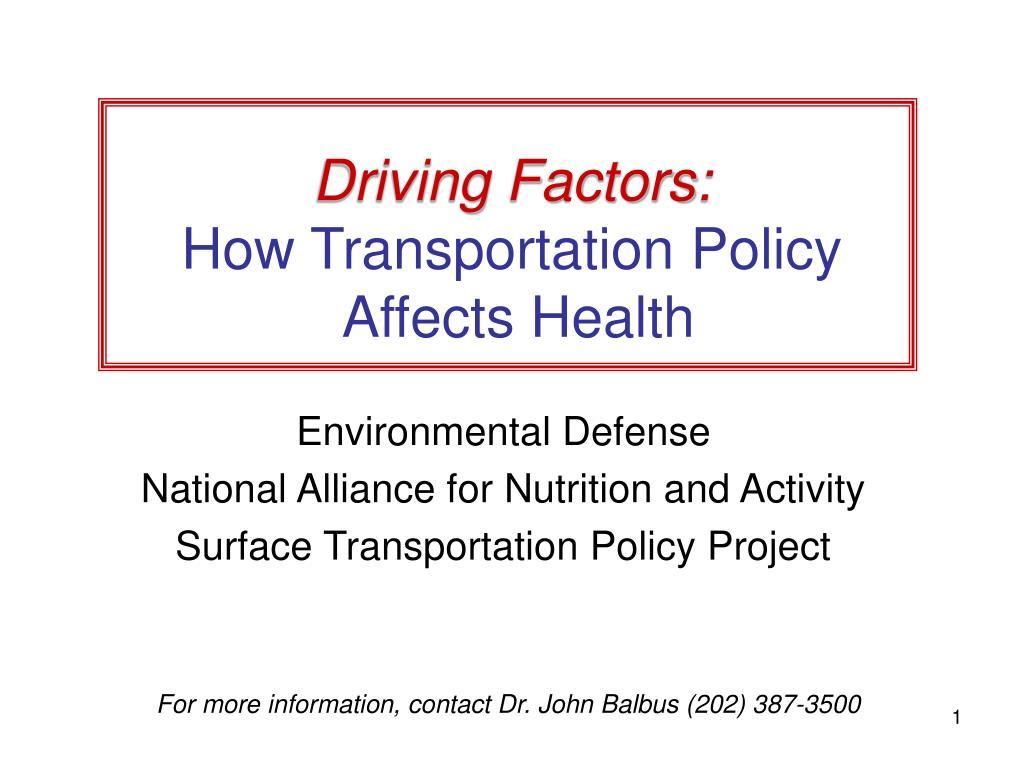 Driving Factors: