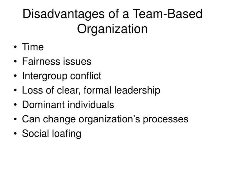 Disadvantages of a Team-Based Organization