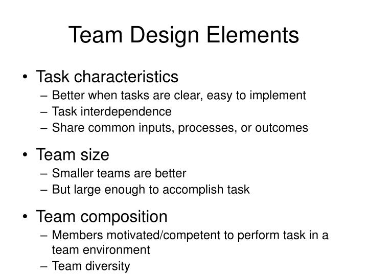 Team Design Elements