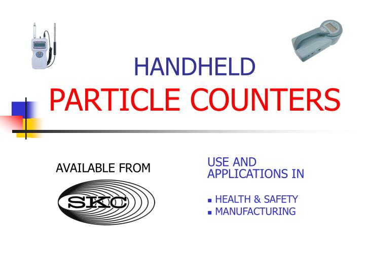 Handheld particle counters