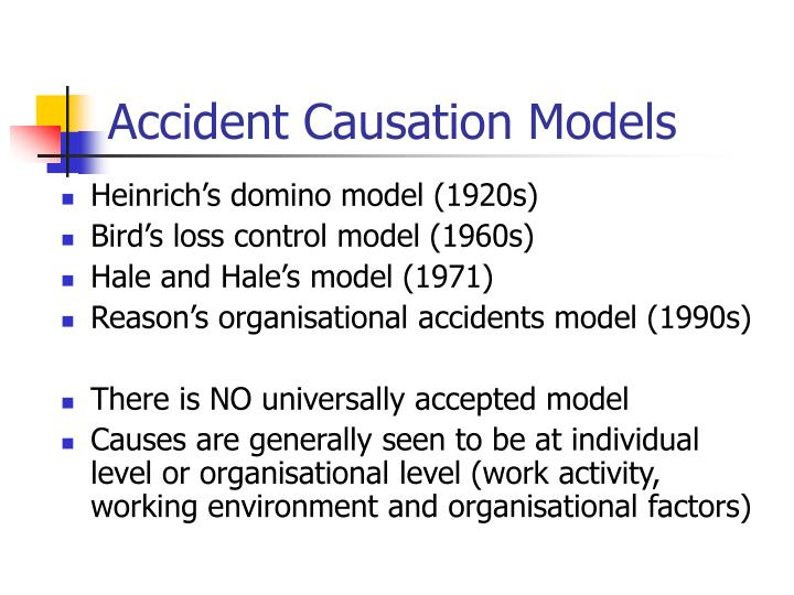 Accident Causation Models