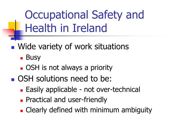 Occupational Safety and Health in Ireland