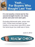 yeah for buyers who bought last year