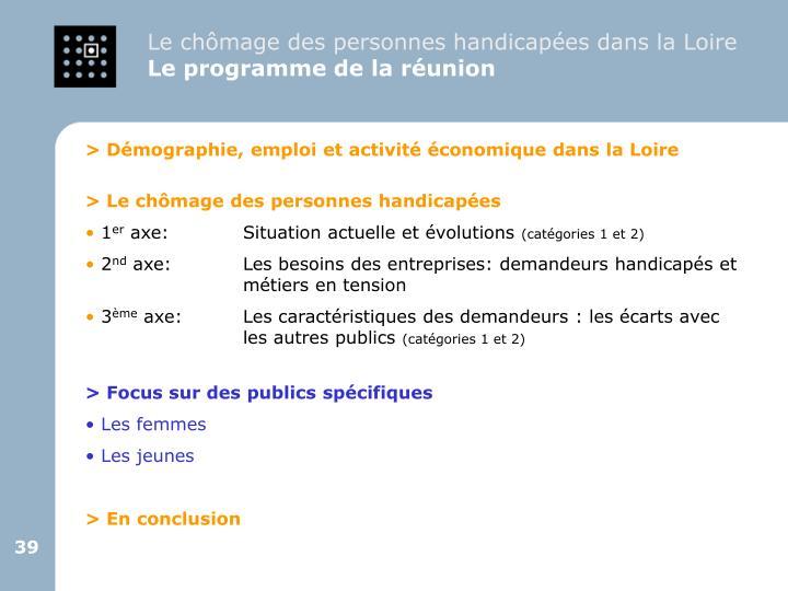Le chômage des personnes handicapées dans la Loire