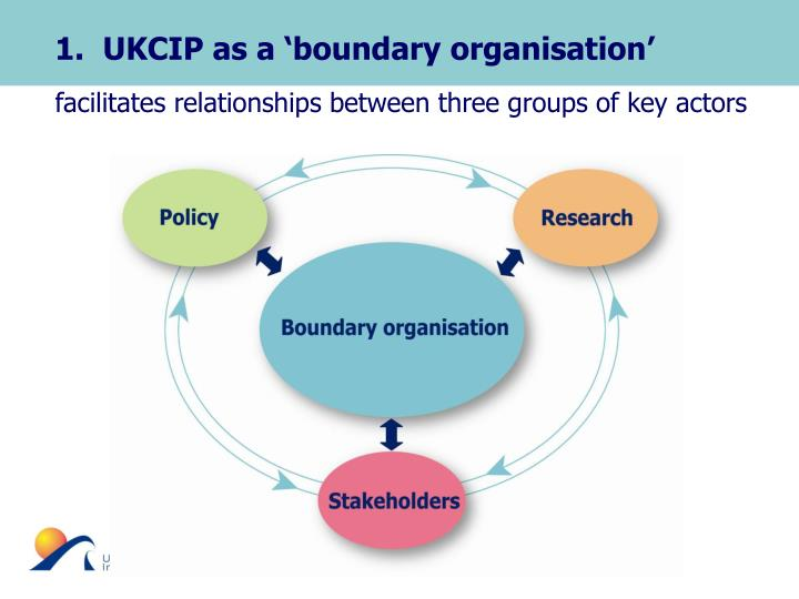 1.  UKCIP as a 'boundary organisation'