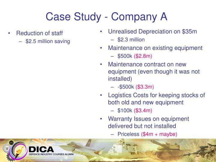 Case Study - Company A