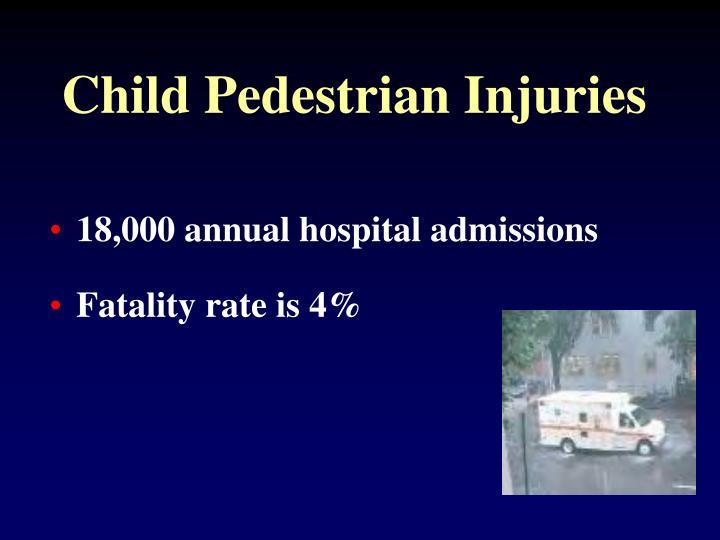 Child Pedestrian Injuries