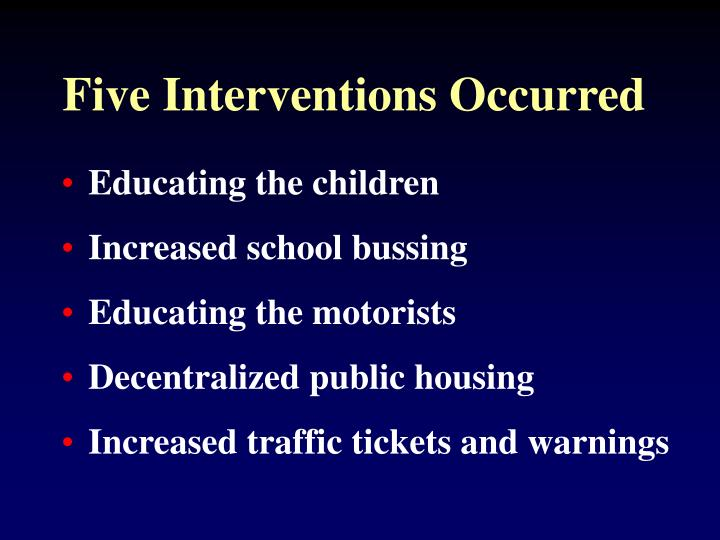 Five Interventions Occurred