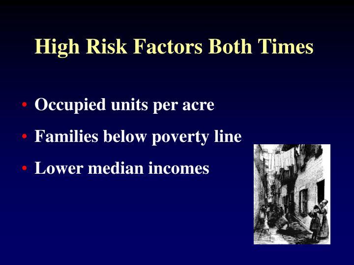 High Risk Factors Both Times