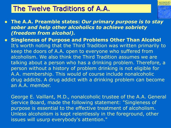 The Twelve Traditions of A.A.