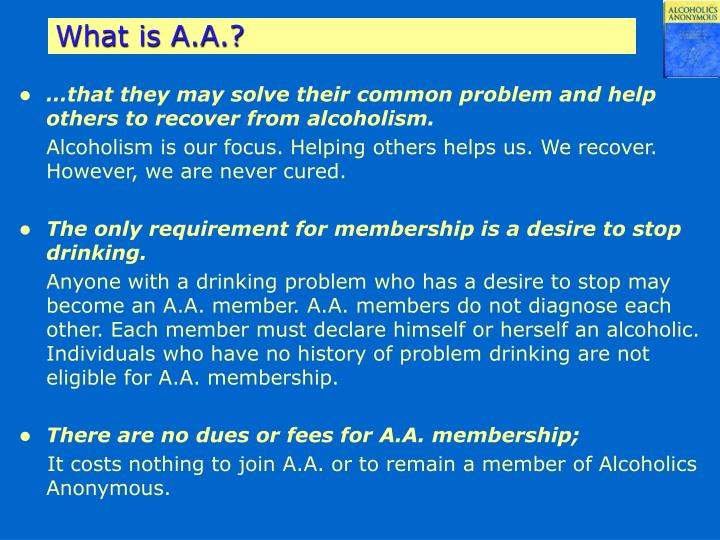 What is A.A.?