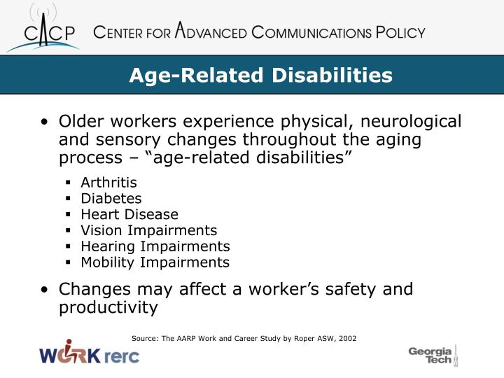 Age-Related Disabilities