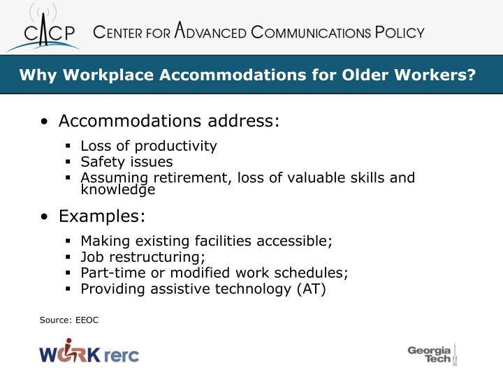 Why Workplace Accommodations for Older Workers?