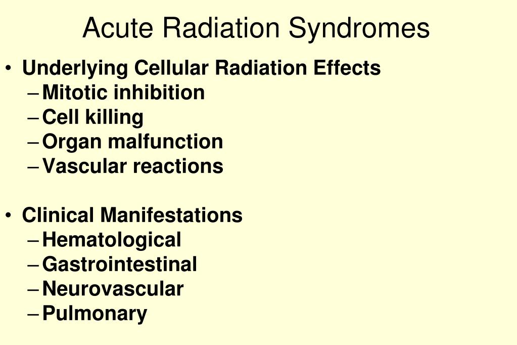 Acute Radiation Syndromes