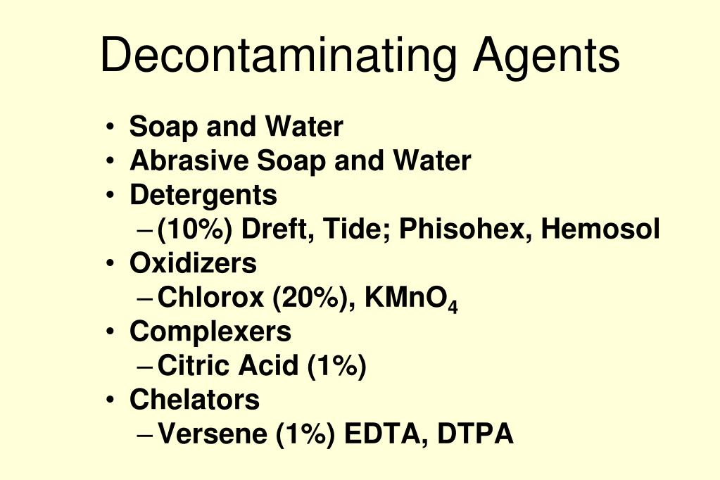 Decontaminating Agents