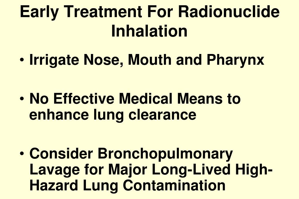 Early Treatment For Radionuclide Inhalation
