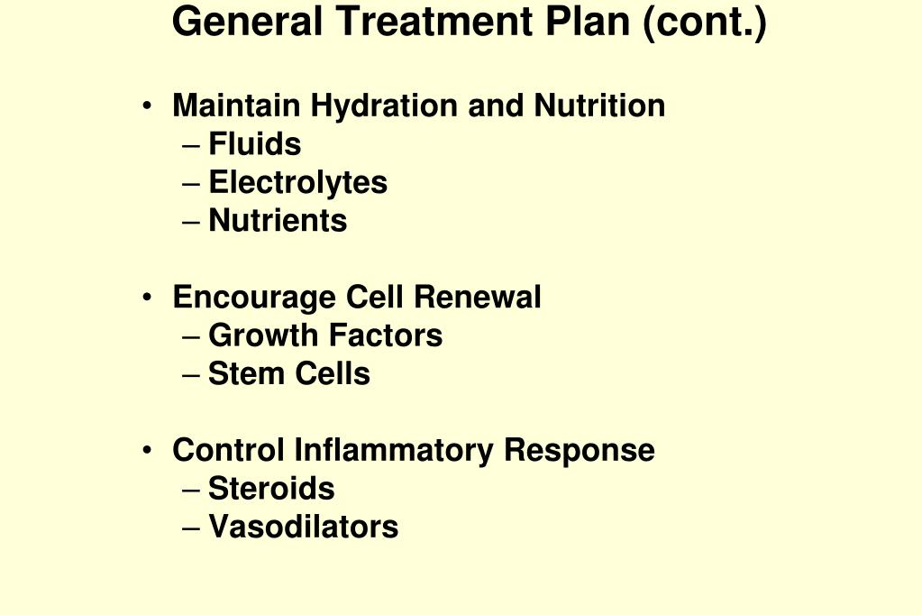 General Treatment Plan (cont.)