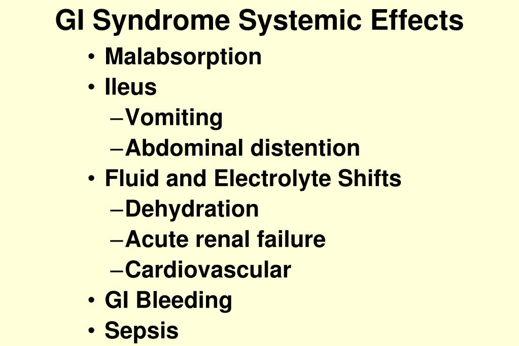 GI Syndrome Systemic Effects