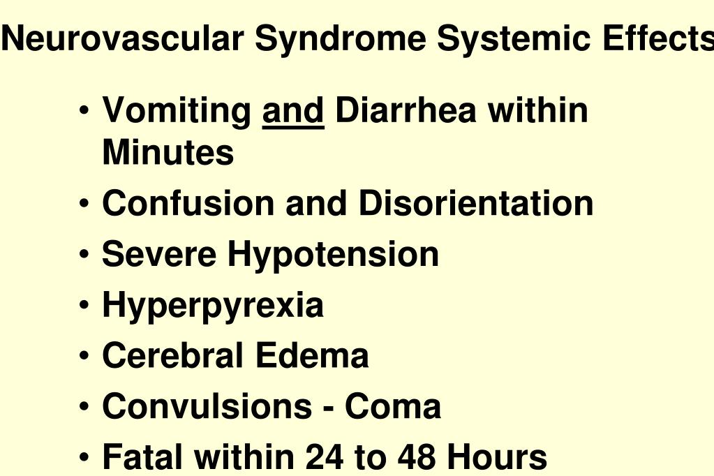Neurovascular Syndrome Systemic Effects