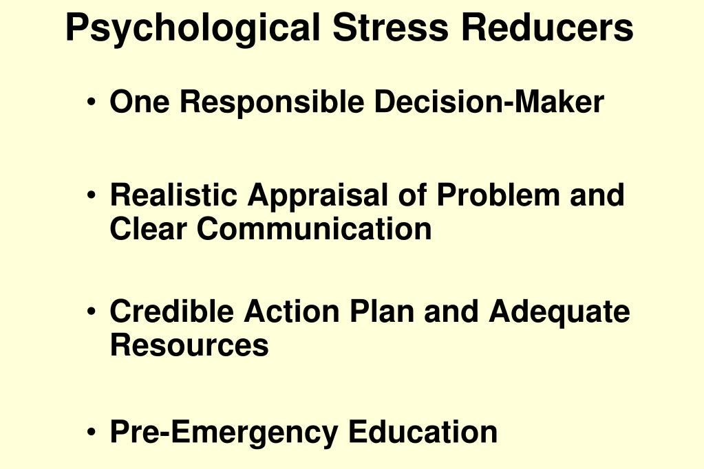 Psychological Stress Reducers