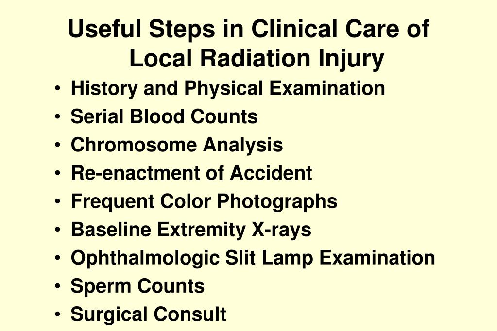 Useful Steps in Clinical Care of