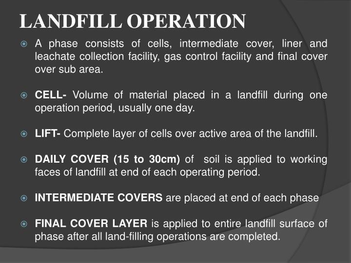LANDFILL OPERATION