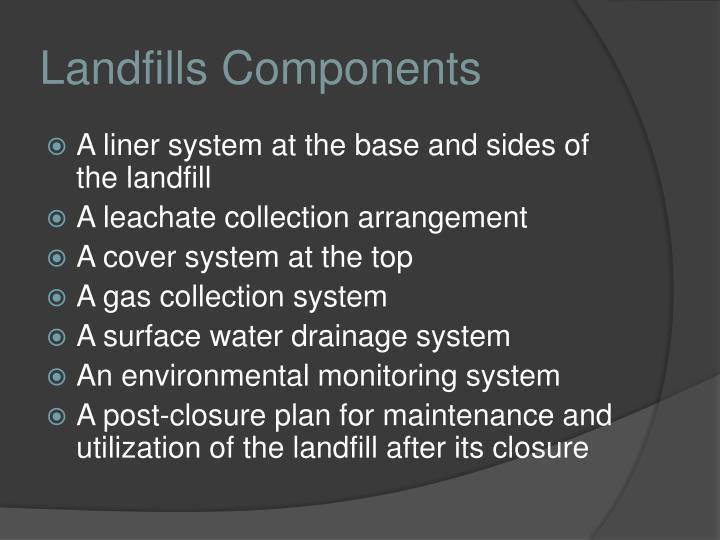 Landfills Components