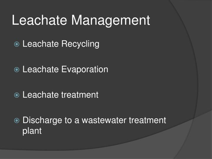 Leachate Management