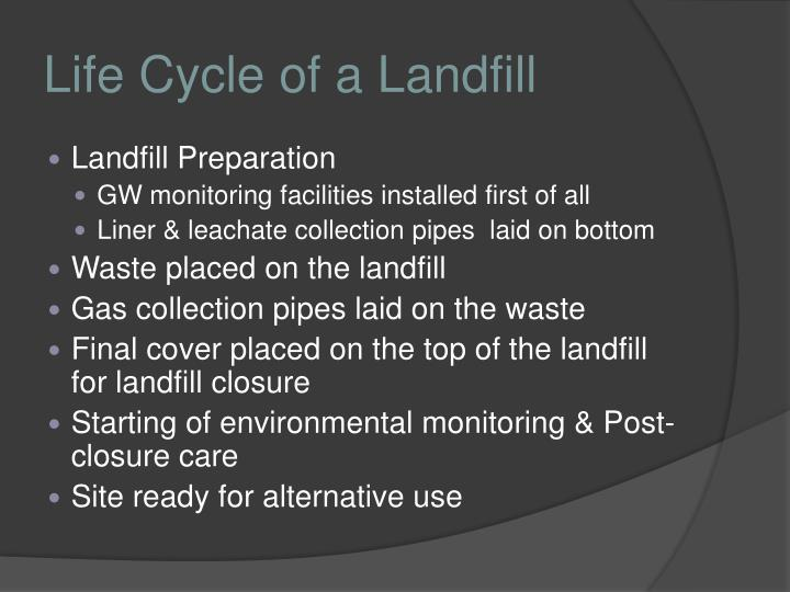 Life Cycle of a Landfill