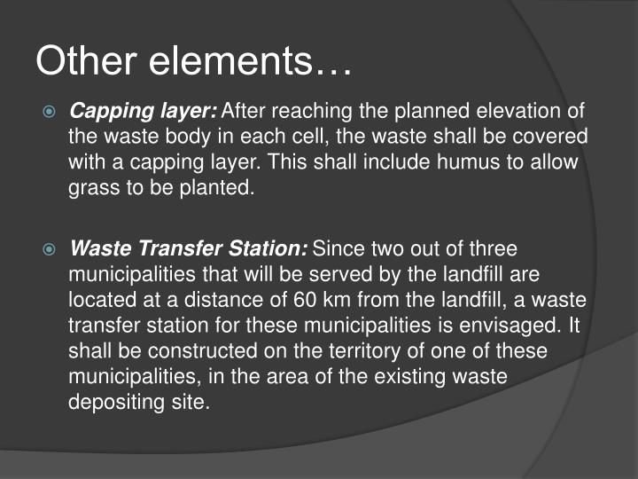 Other elements…
