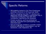 specific reforms