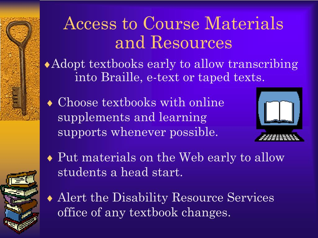 Access to Course Materials