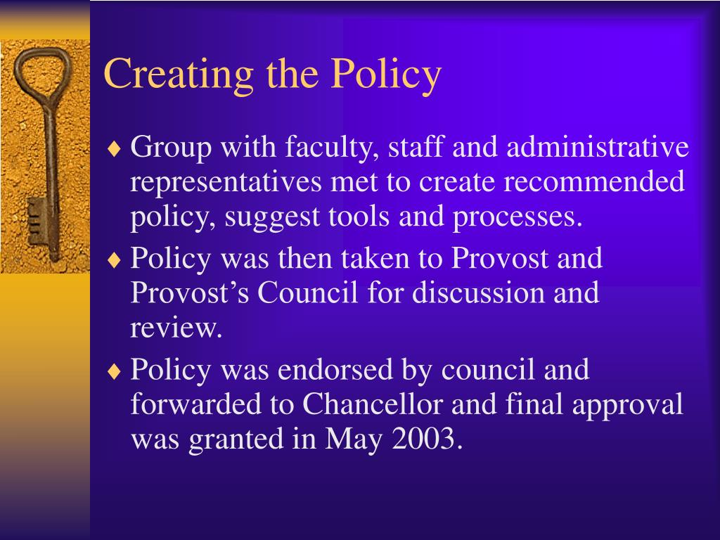 Creating the Policy