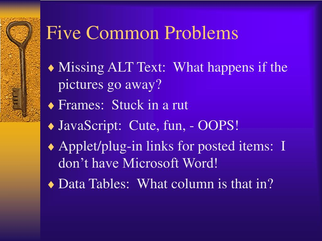 Five Common Problems