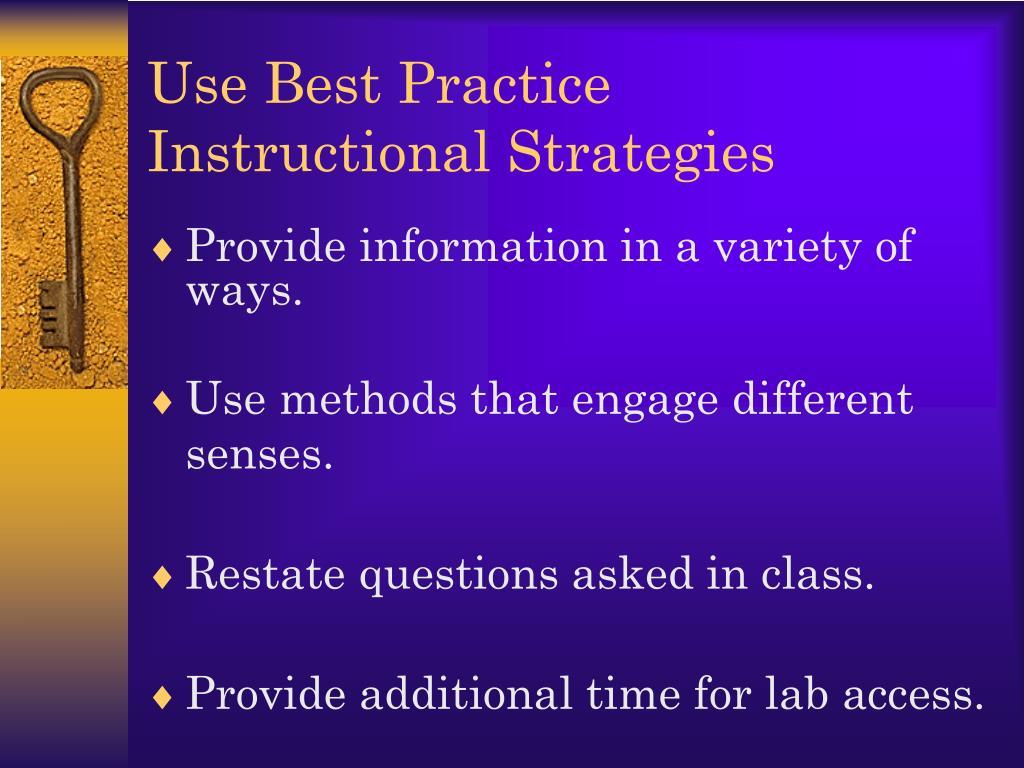 Use Best Practice