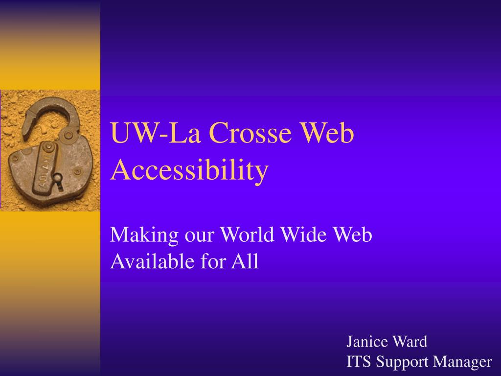 UW-La Crosse Web Accessibility