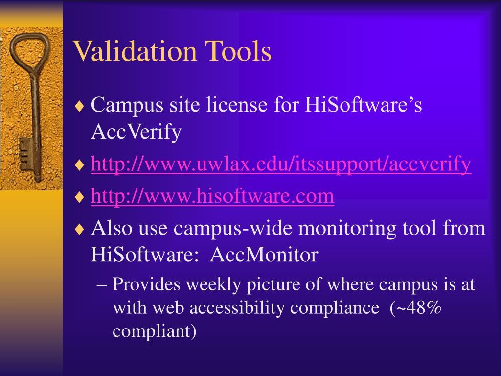 Validation Tools