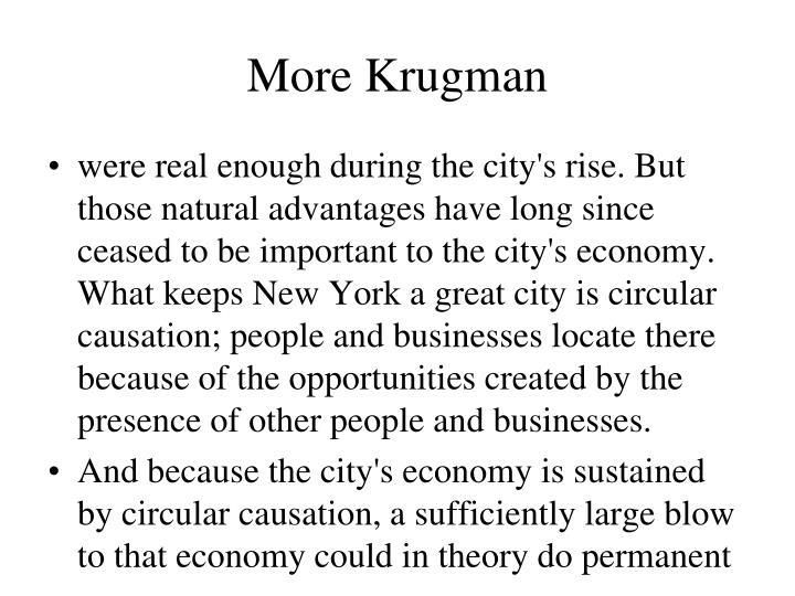 More Krugman