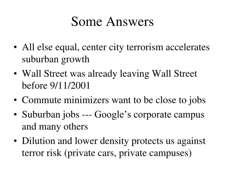 Some Answers