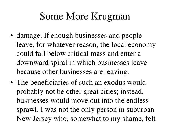 Some More Krugman