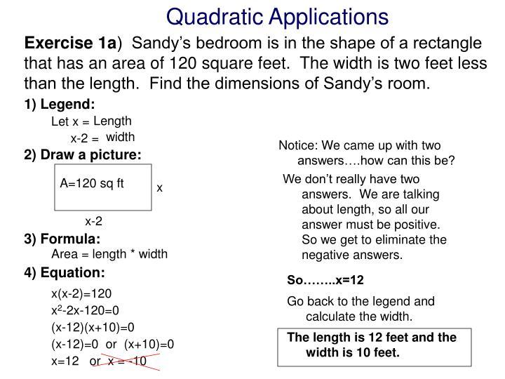 Quadratic Applications