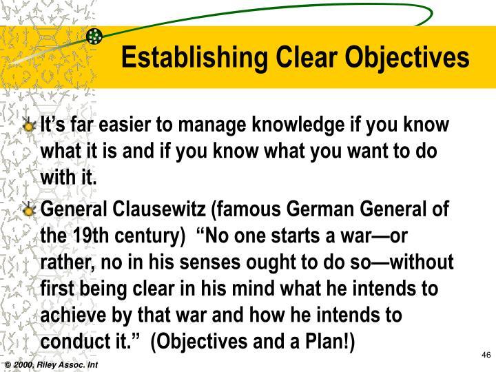 Establishing Clear Objectives