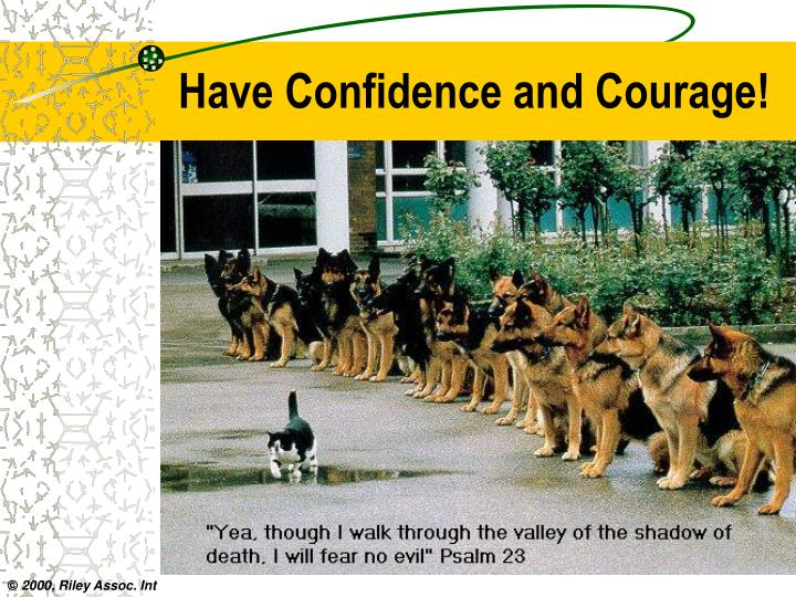 Have Confidence and Courage!