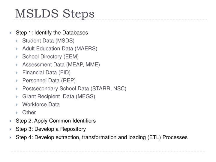 MSLDS Steps