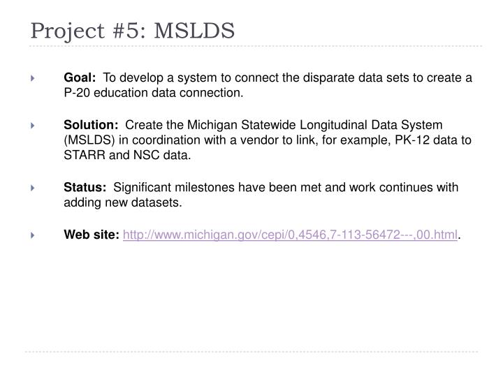 Project #5: MSLDS