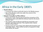 africa in the early 1800 s