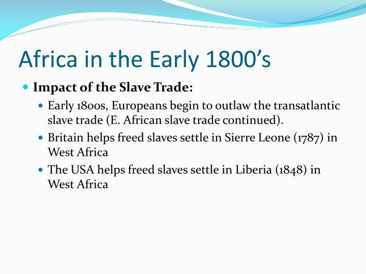 Africa in the Early 1800's